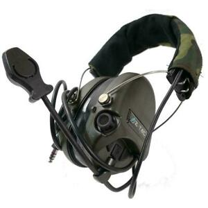 Z-Tactical Srd Sordin Headset Active Noise Reduction Airsoft Ptt Radio Z111-FG