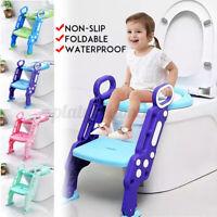 Children Kids Toilet Seat Ladder Baby Potty Training Step Trainer Non Slip Safe