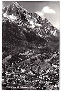 AK, Mittenwald, Totale mit Wetterstein, 1966