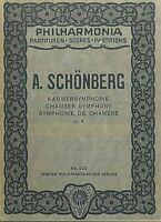 Taschenpartitur SCHOENBERG : KAMMERSYMPHONIE Op. 9