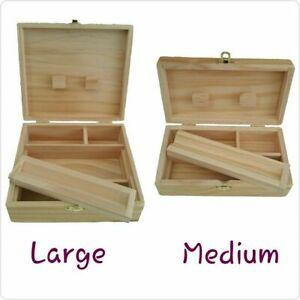 Rolling Supreme Stash Storage Wooden Box Compartment Medium Large Smokers Box