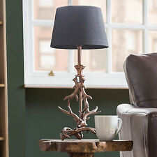 Timms Hill Antique Copper Antler Base Only 41cm Bedside Table Lamp