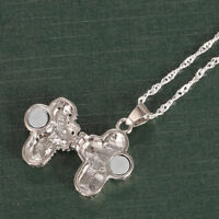 Locket 925 Silver Magnet Cross Pendant Chain Necklace Chocker Party Jewelry Gift