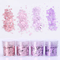 10ml Hexagon Nail Glitzer Pulver Sequins Flakies Nagel Puder Glitterstaub DIY