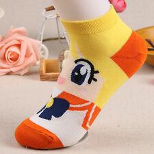 Women Trendy Cotton Ankle Casual No Show Cartoon Minions Socks Low Cut