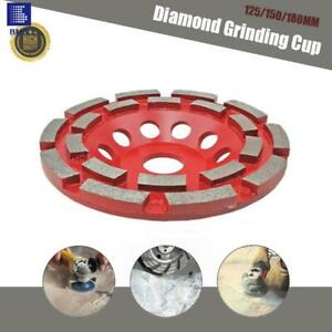 Double Row Diamond 125-180 mm Grinding CUP Wheel Grinder Concrete Granite Stone