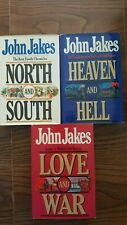 """John Jakes 3 HC Book Set """"North and South"""", """"Love and War"""" and """"Heaven and Hell"""""""