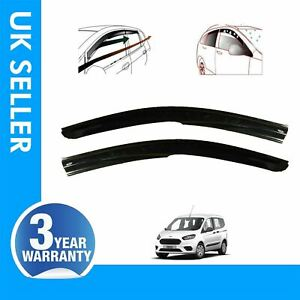 2X WIND RAIN SMOKE DEFLECTOR HEAVY DUTY FITS FORD TRANSIT TOURNEO COURIER