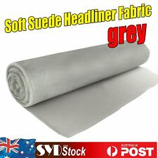 1.51M x 3.4M Automotive Headliner Roof Lining Synthetic Suede Foam Fabric Gray