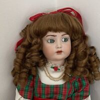 """Antique Bisque Simon And Halbig 117 Kammer And Reinhardt Reproduction Doll 19"""""""