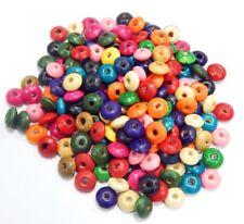 400 Holz Perlen 10mm Rondell Bunt Mix Schmuck Basteln Perlenmischung BEST H53