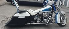 """Harley Softail Heritage 6"""" Down 9"""" Out Saddlebags overlay Fender 6x9 Lids"""