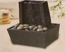 Mini Tranquility Fountain Lines Wall Look Cordless Soothing Sound Wedding Home