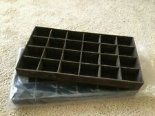 Two Jewelry Divided Trays Display Organizing Removeable Inserts