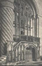1910's VINTAGE POSTCARD - BISHOP'S THRONE DURHAM CATHEDRAL - NORMAN ARCHITECTURE