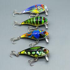 4pcs Lot Crank Bait Wobbler Fishing Lures Bass CrankBait Fishing Tackle 9g/5.5cm
