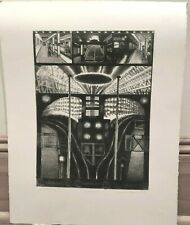 """""""Subway #4""""- Street & Underground Views Artist's Proof Lithograph-August Mosca"""