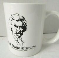 "Mark Twain Museum Hannival Missouri Coffee Mug Cup White Ceramic 4"" Tall"