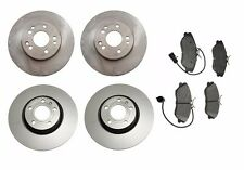 NEW Mercedes R107 W201 190E Set of 2 Front+2 Rear Disc Brake Rotors+Pads