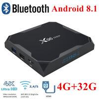 X96 Max Smart TV Box 4GB+32GB Android 8.1 Amlogic S905X2 Quad Core Dual WIFI 4K