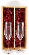 Deux champagne riedel verres cristal