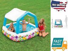 Home Outdoor Garden Sun Shade Inflatable Kids Water Swimming Pool Yard,74 Gallon