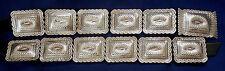 Domed Vintage 12 Conchos Belt Navajo S James Sterling Silver Stamped