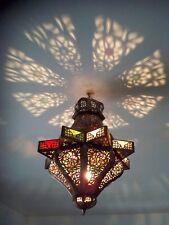 Lustre plafonnier marocain fer forgé  lampe applique lanterne de plafond