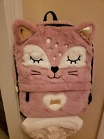Betsey Johnson LBANDY Luv Betsey Furry Pink Cat Backpack NWT $98 So Freakin Cute