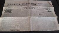 Diario Nacionalista ACCIÓN Francesa 15 Agosto 1934 N º 227 ABE
