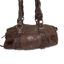 Jerome Dreyfuss Brown Leather Shoulder Bag Handbag Purse