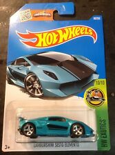 2016 Hot Wheels L Case CUSTOM Super Lamborghini Sesto Elemento w Real Riders