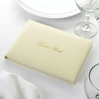 Special Date Guest Book Wedding Anniversary L1B2//3 Ivory Leather Guest Book