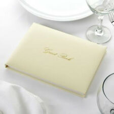 IVORY & GOLD Wedding Celebration GUEST BOOK Boxed