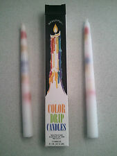 "2 pack of Multi-Color TAPER DRIP CANDLES 3/4"" x 9 1/2"" long"