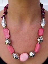 Moroccan Necklace Women African Handmade Berber Stones Beads Pendant Ethnic