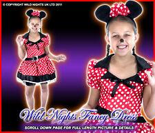 FANCY DRESS COSTUME GIRLS LITTLE MISSY MOUSE LG AGE 8-10