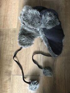 Eddie Bauer.  Aviator Leather Hat (Unisex) Size: S/M. Brand New