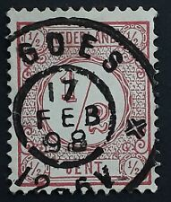 1898 Netherlands 1/2c red Numeral stamp cancelled Goes