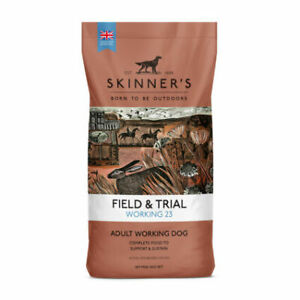 SKINNERS FIELD AND TRIAL WORKING 23 Working Dog Food 15KG FREE NEXT DAY DELIVERY