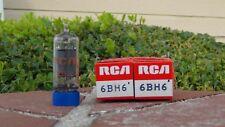 6Bh6 x2 Nos/Nib Rca Vintage Pentode Tubes-Hallicrafters-Teste d-Free Shipping