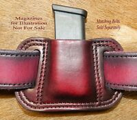 Gary C's Leather MAG POUCH for 9mm /.40  magazine fits Glock  27/26  Mags