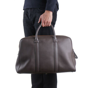 New $3250 TOM FORD Gray-Brown Leather Large Buckley Briefcase/Overnight Bag