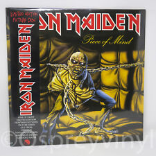 IRON MAIDEN Piece of Mind LIMITED PICTURE DISC LP G/Fold Manche Obi SEALED