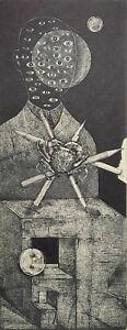 IVAN RUSACHEK, Art Print, Original Hand Signed Etching, Ex Libris Bookplate,2019
