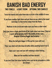 Banish Bad Energy Spell, Book of Shadows Spells Page, Wicca, Witchcraft, Charmed