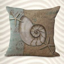 US Seller-beach coastal seashell cushion cover bed pillows decorative