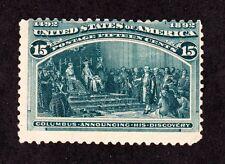 US 238 15c Columbian Exposition Mint Avg OG H SCV $225