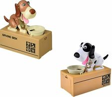 2 Pack Cute Stealing Coin Puppy Money Box Dog Bank Piggy Bank