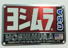 YOSHIMURA USA Exhaust Aluminium plate emblem Sticker